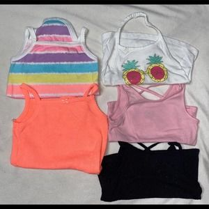 Baby Girl Tops 5 Piece Bundle Size 6-9 Months